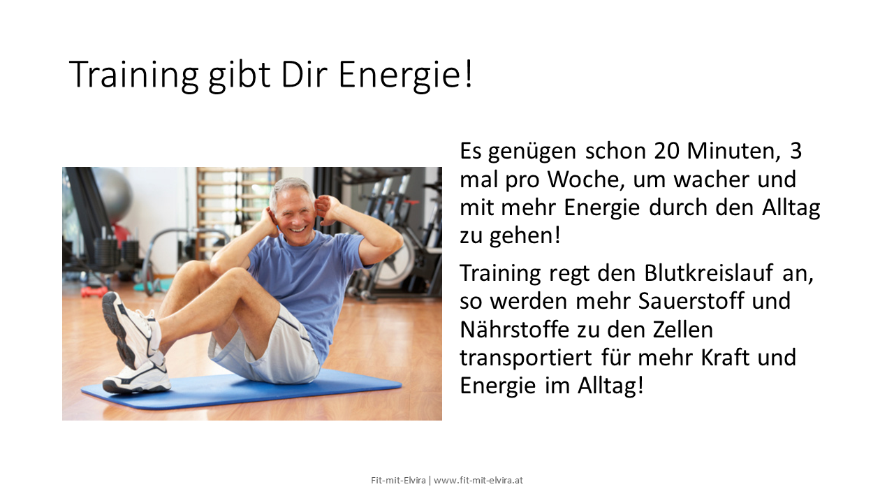 Training gibt Dir Energie