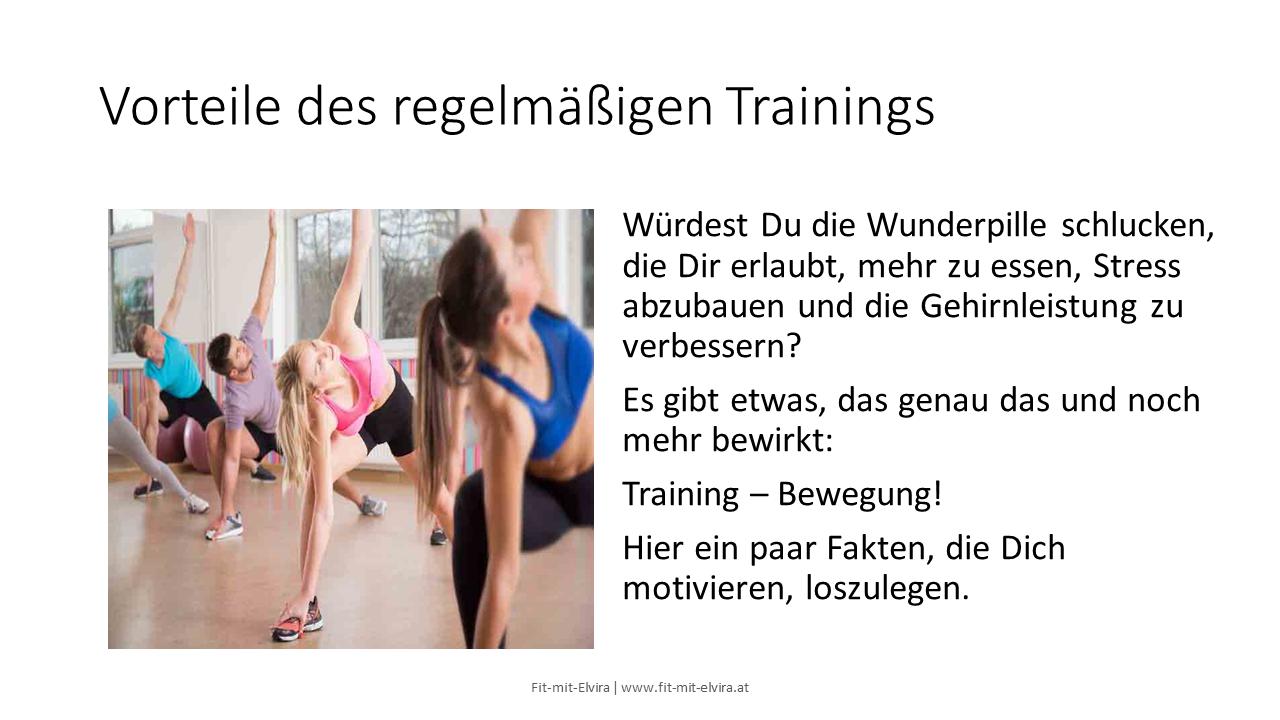 Die Vorteile regelmäßigen Trainings