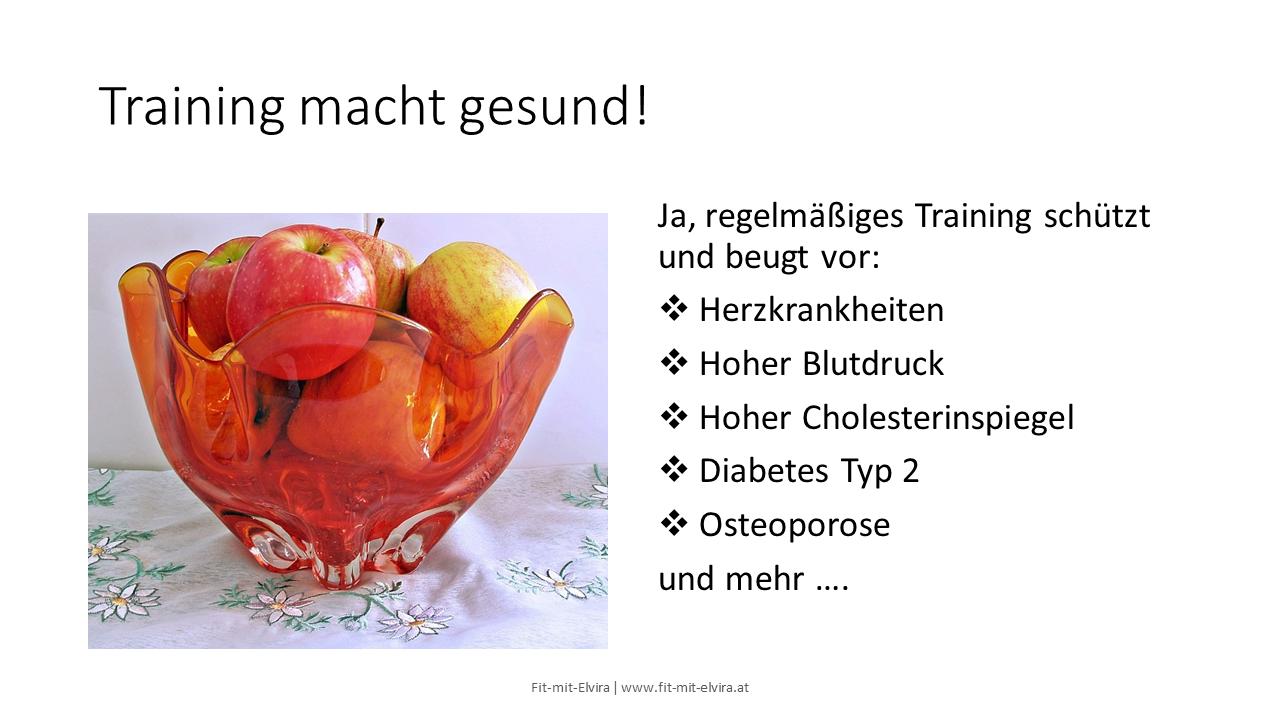 Training macht gesund
