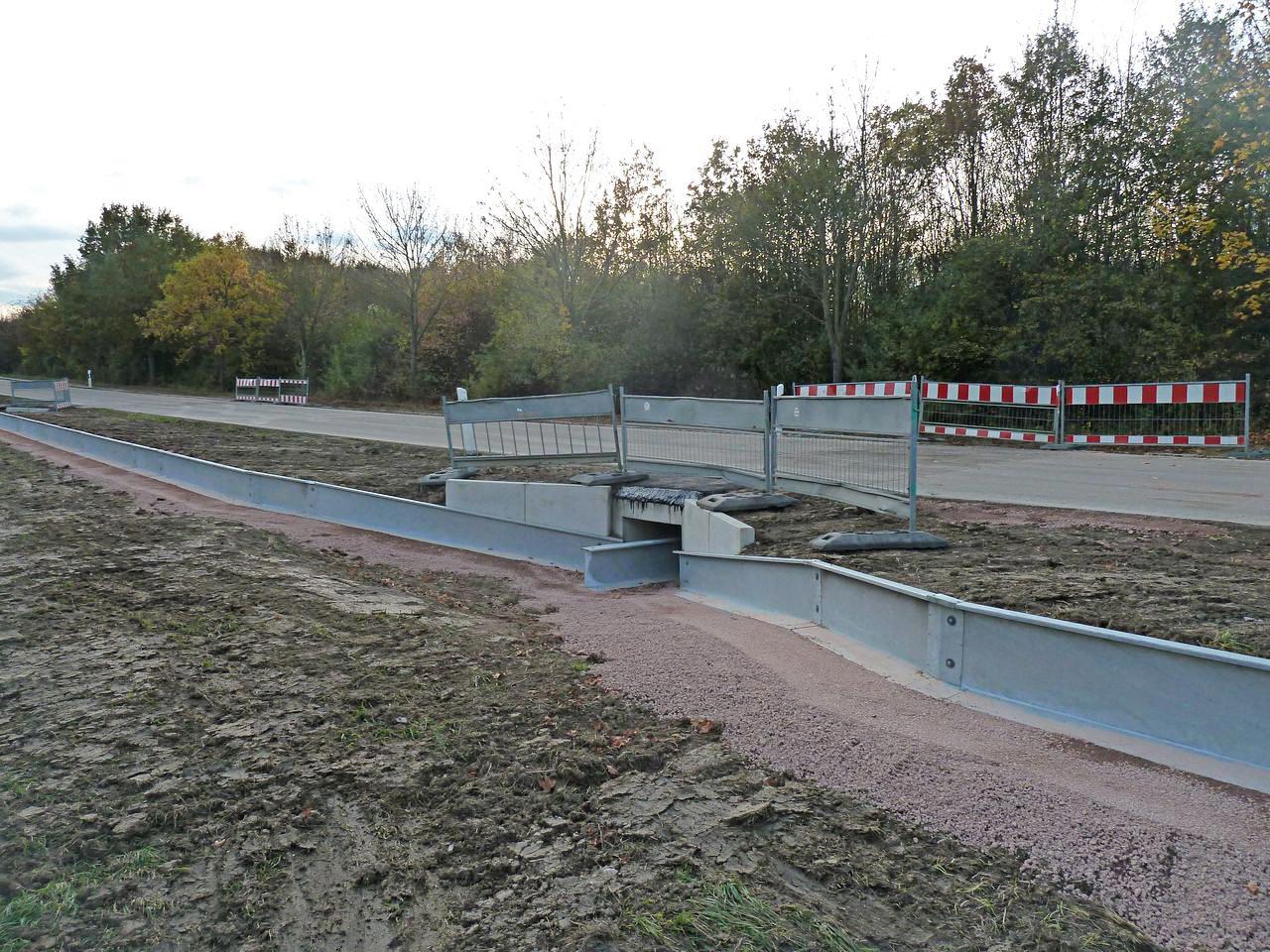 Neuer Krötentunnel. (Bild von Reinhold Löffel)