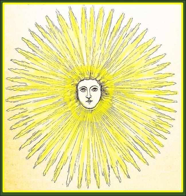 Balder- Abbildung aus einem Kinderbuch, Quelle: Alräunchens Kräuterbuch 1882