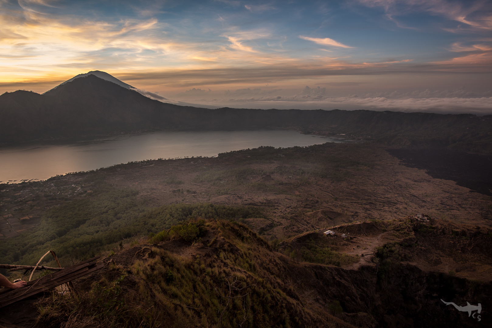 View on crater/vulcano Batur - Bali/Indonesia