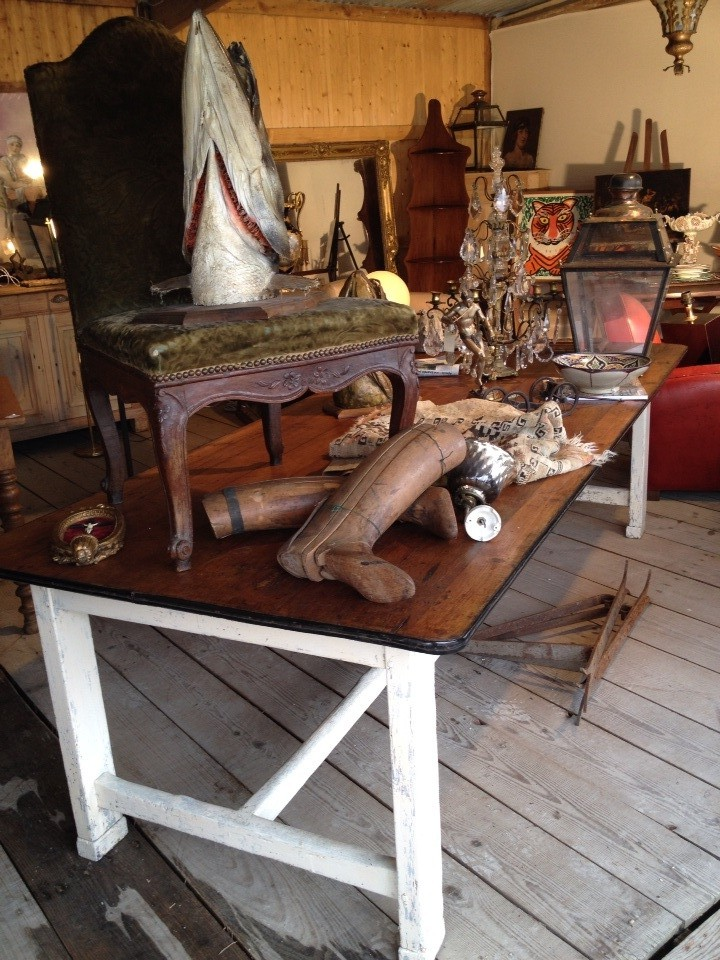 table de ferme antiquités et brocantes