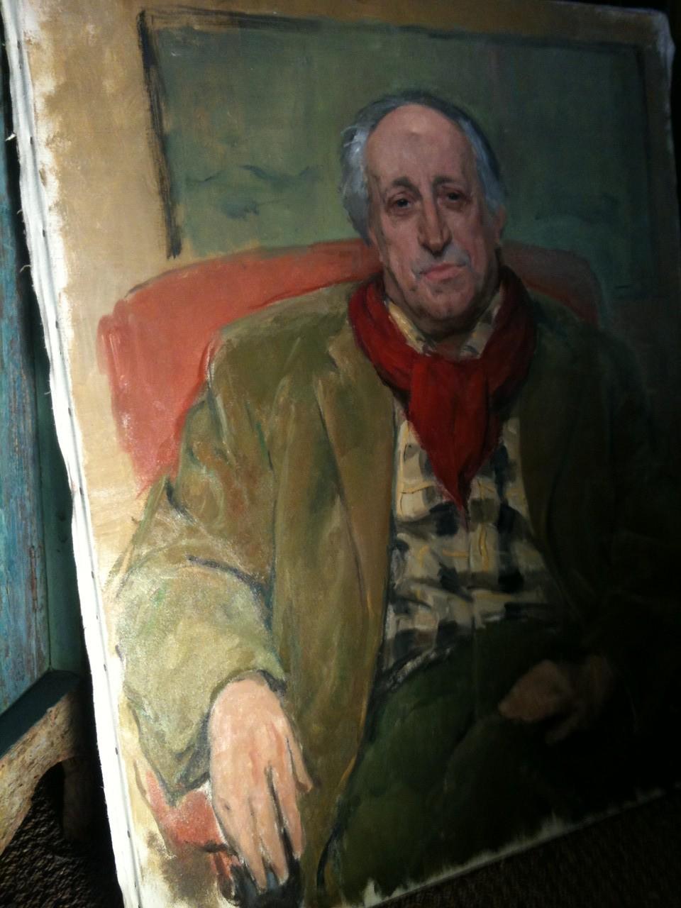 huile sur toile , portrait