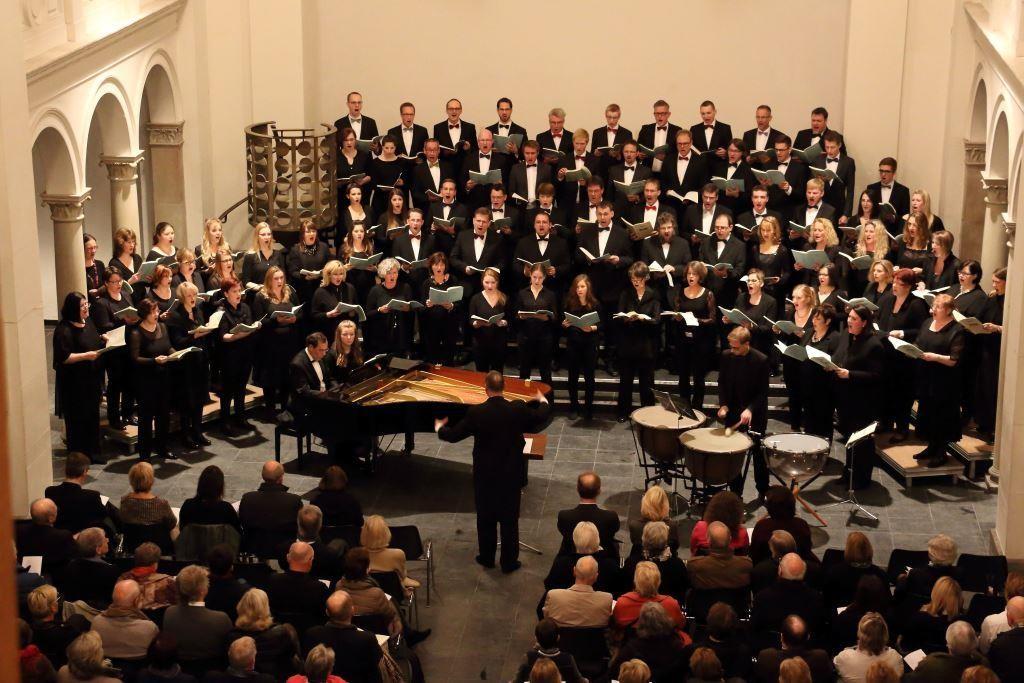 Konzert mit dem reger-chor-köln in der Trinitatiskirche Köln im Oktober 2015 unter Leitung von Wolf-Rüdiger Spieler