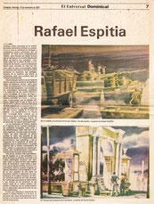 Rafael Espitia, artista nacido en Cartagena (Colombia), fue declarado niño prodigio a la edad de 13 años.