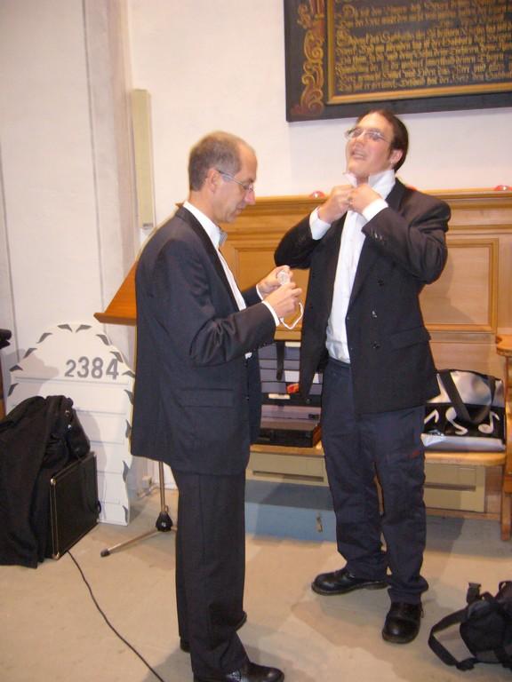 """Herren des Panflötenchor """"Pan-da-Bärn"""" Wohlen 17.11.2006"""