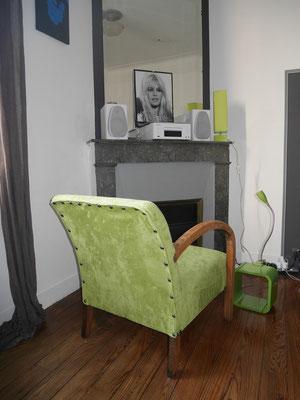 fauteuil studio couverture suédine