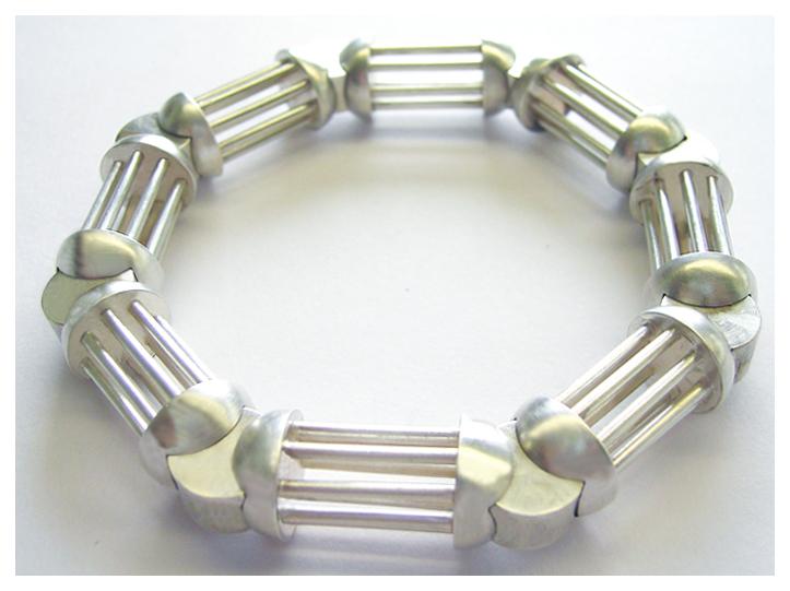 Bewegliches Armband aus einzelnen Elementen, 925er Silber