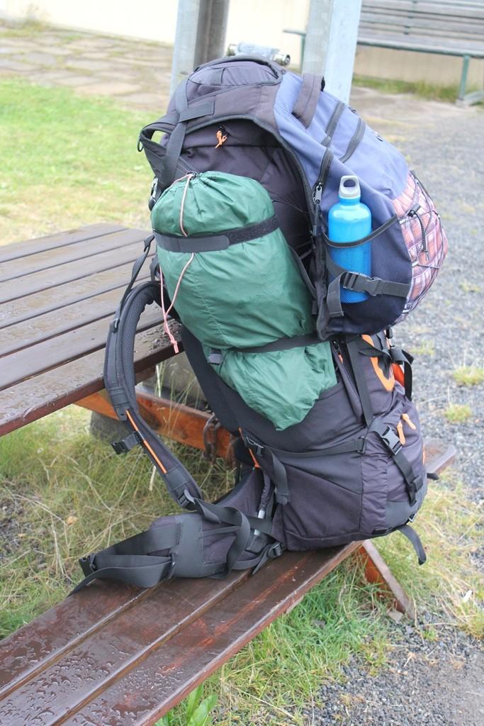Mein Rucksack, mit Aldiaufsatz