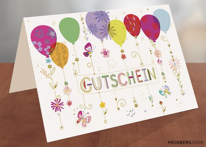 Gutschein Karte Luftballons