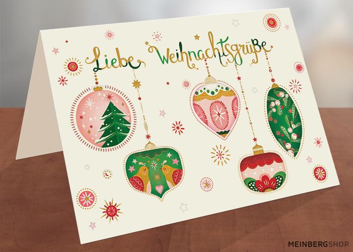 Kugeln Liebe Weihnachtsgrüße Karte