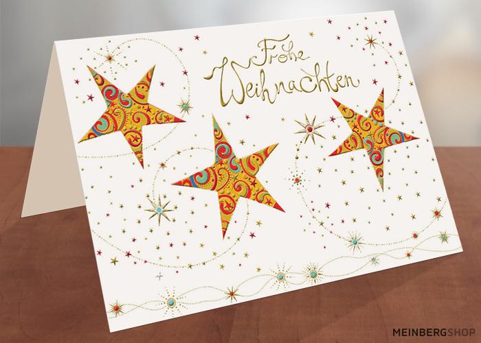 Drei Sterne Frohe Weihnachten