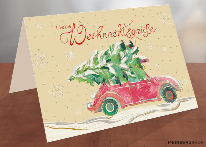 VW Käfer rot Weihnachtsbaum