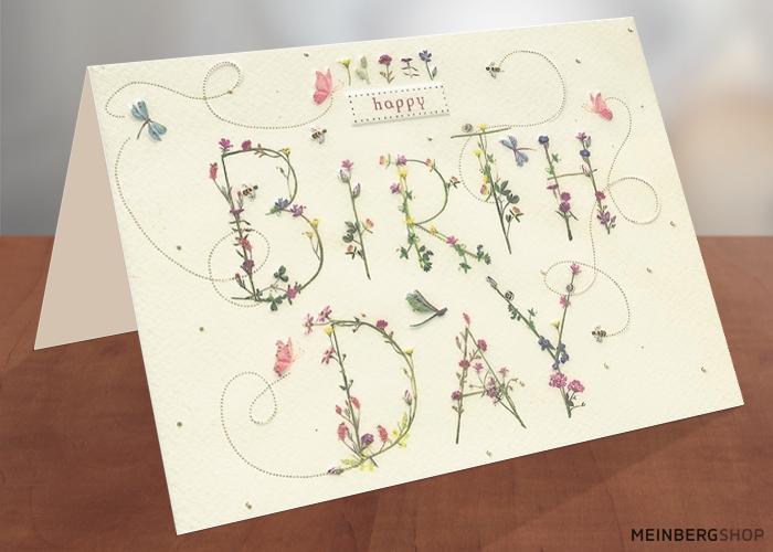 Geburtstagskarte Schrift Turnowsky