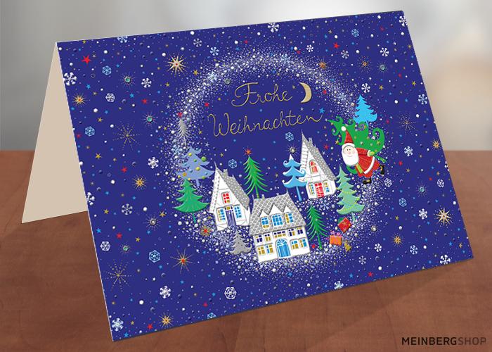 Schneekugel Frohe Weihnachten Turnowsky Weihnachtskarte