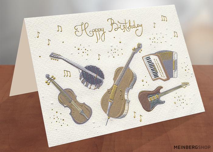 Musikinstrumente Geburtstagskarte Turnowsky