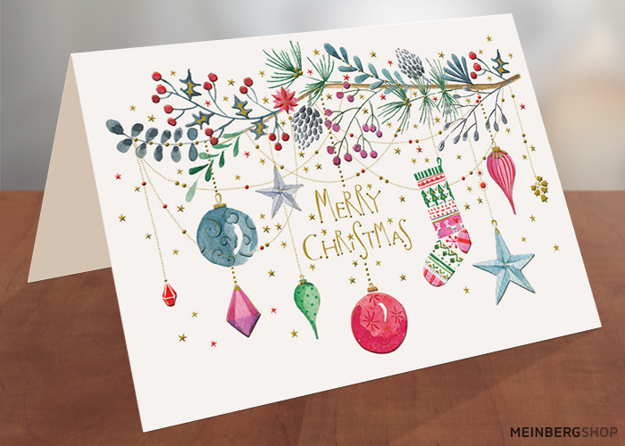 Weihnachtszweig Merry Christmas