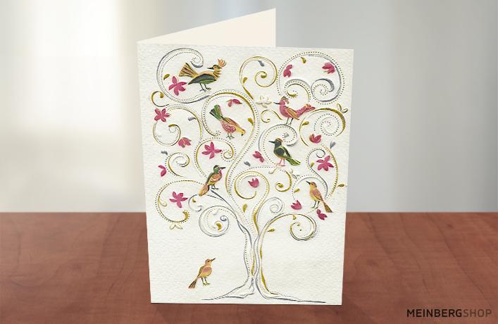 Turnowsky Karte Paradiesvögel im Baum