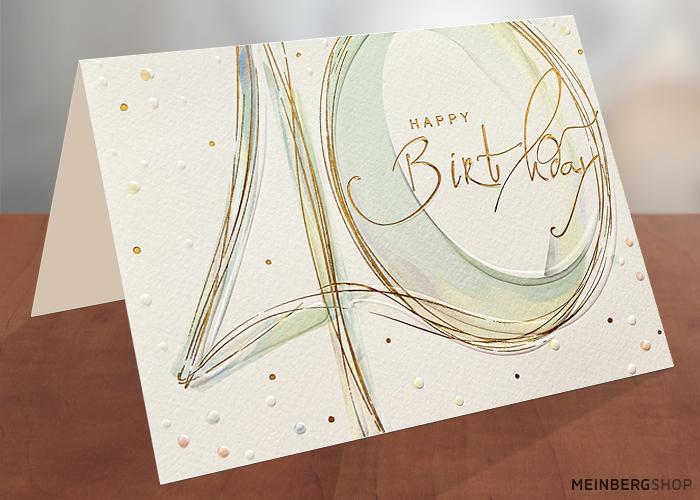 Geburtstagskarte 40 Jahre Happy Birthday Schrift