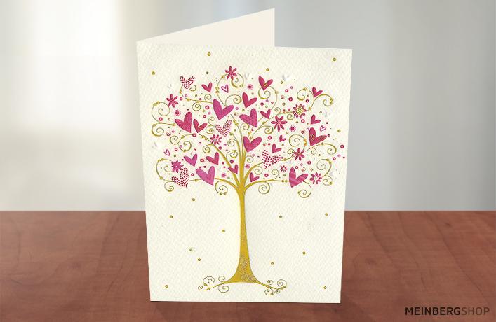 Baum mit Herzen  Turnowsky Karte
