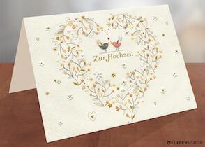Turnowsky Hochzeitskarte Vögel