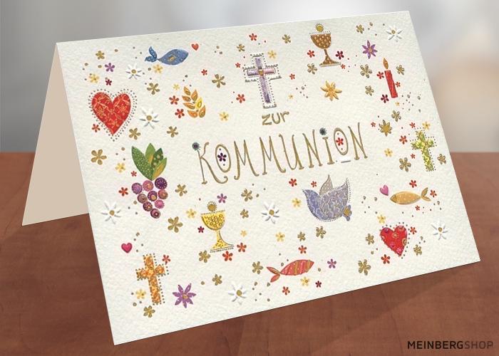 Kommunion Symbole Turnowsky Klappkarte
