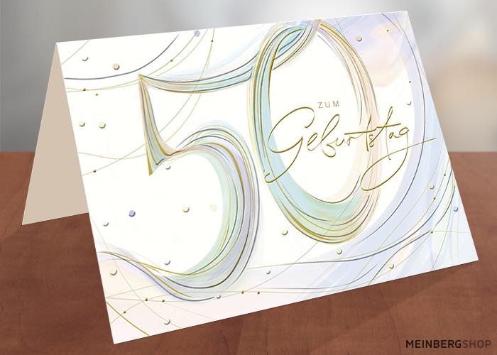 Geburtstagskarte 50 Jahre zum Geburtstag