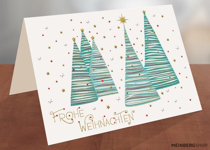 Moderne Tannenbäume Frohe Weihnachten