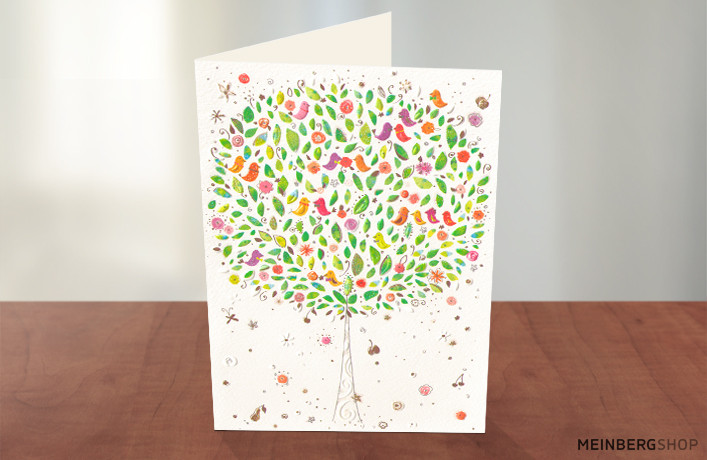 Turnowsky Karte Baum mit Vögel