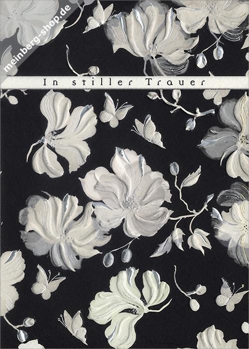 Kondolenz Schlichte Blumen Im Stillen Gedenken Kartenshop