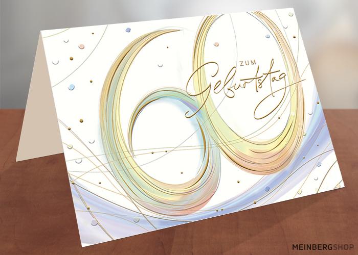 Geburtstagskarte 60 Jahre zum Geburtstag