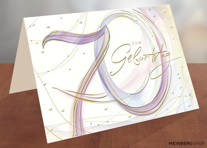 Geburtstagskarte 70 Jahre zum Geburtstag
