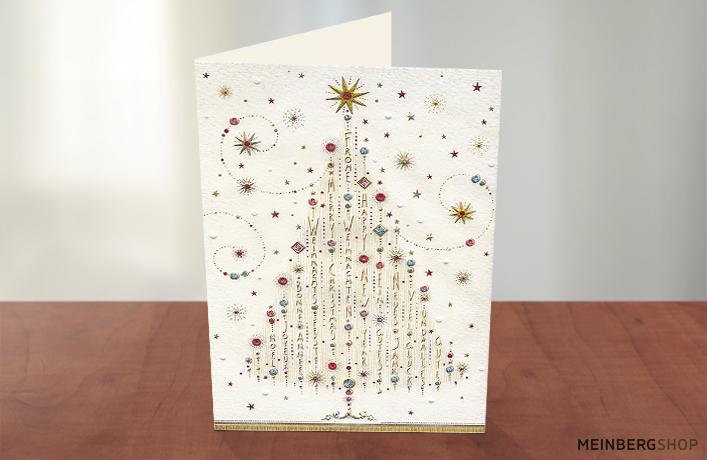 Weihnachten Karte Baum deutsch englisch
