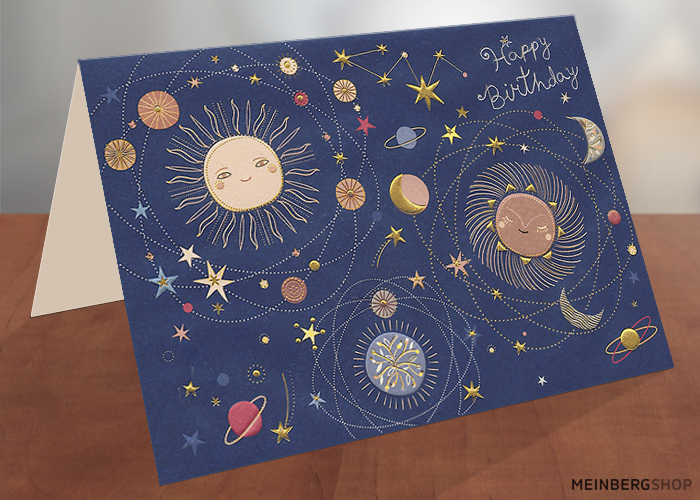Geburtstagskarte Weltraum Universum