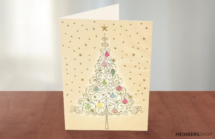 Weihnachtsbaum mit Kugeln Turnowsky Karte