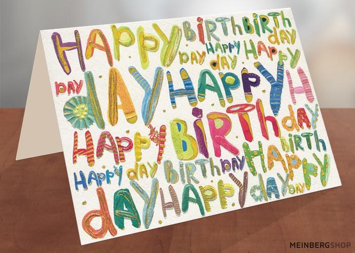Happy Birthday Pop Art Schrift