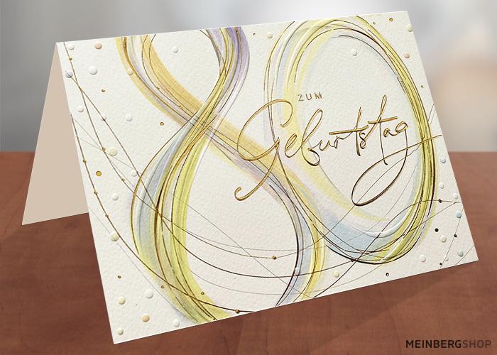 Geburtstagskarte 80 Jahre Schrift