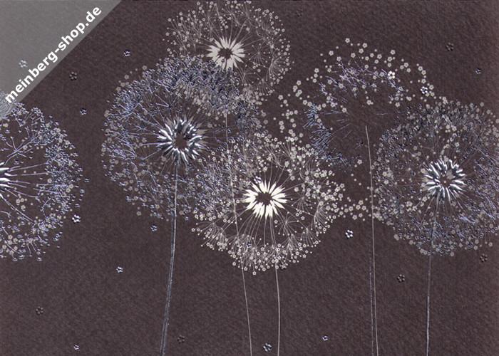 Pusteblumen Schwarz Weiss Silber Turnowsky Kartenshop