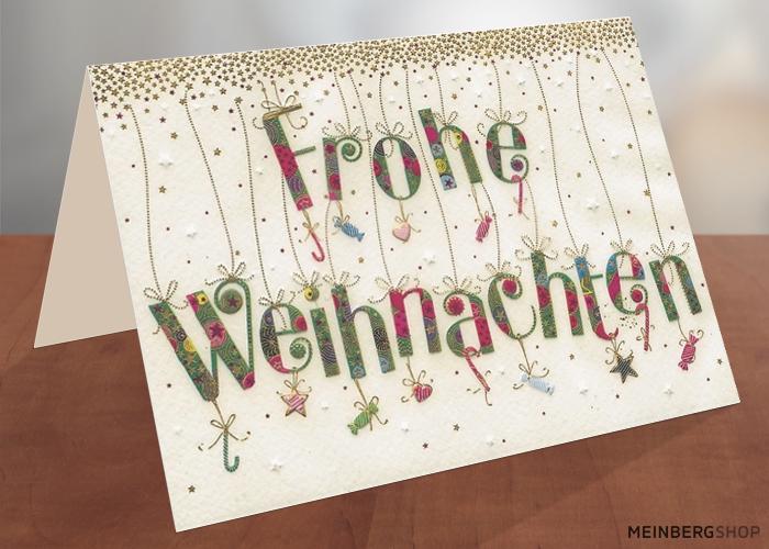 Schrift Frohe Weihnachten Turnowsky Weihnachtskarte