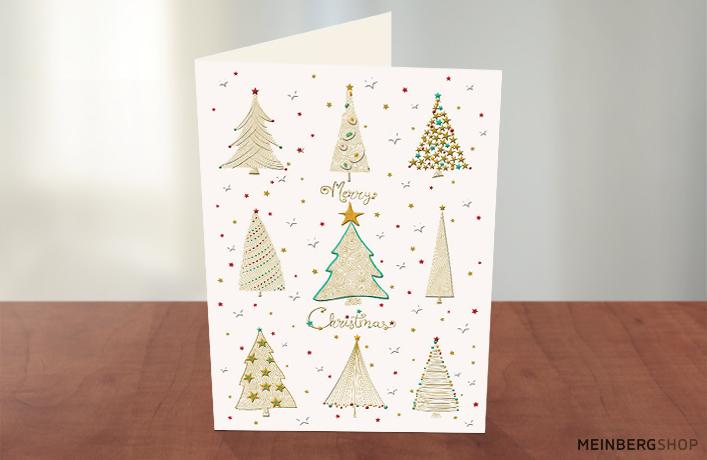 Neun goldene Tannen Merry Christmas
