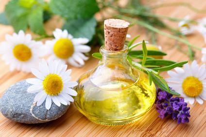 Pflanzen, Öl, Massage