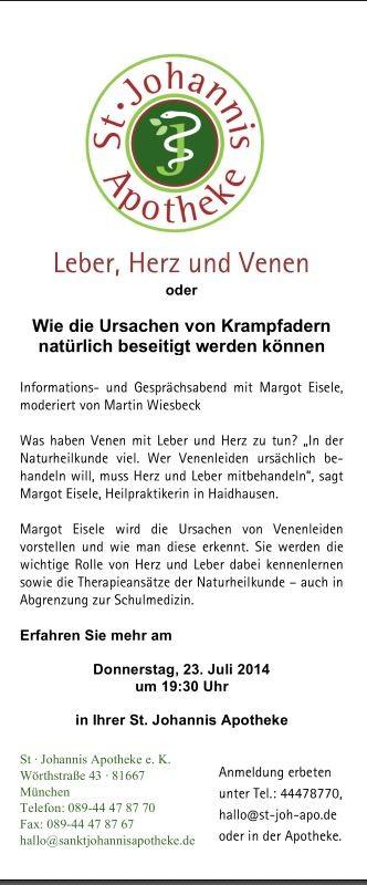 Krampfadern, Hämorrhoiden, Naturheilkunde, Heilpraktiker München