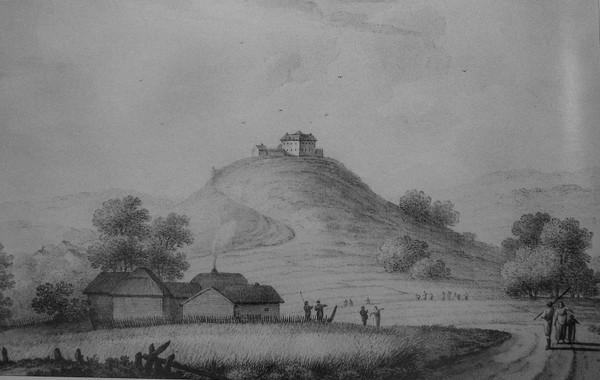 Самое старое из сохранившихся изображений Олесского замка, сделанное в 1781 году Яном Мюнтцем