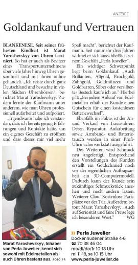 Elbe Wochenblatt. 11.09.2019