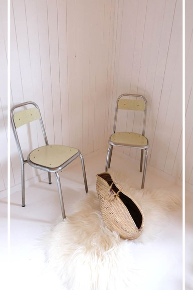 Chaises formica vintage