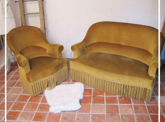 fauteuil canapé crapaud