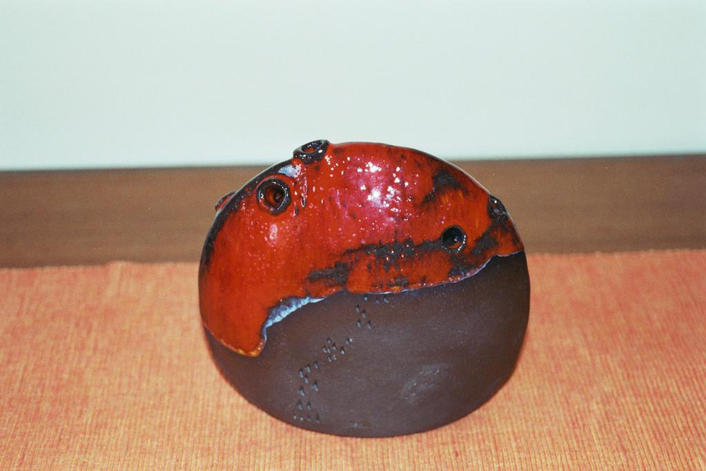 Vase, Ton, gebrannt und glasiert