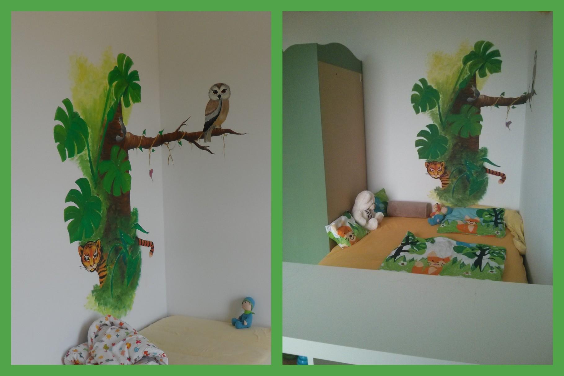 Kinderzimmer Wandgestaltung Dschungel