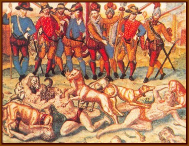 Chiens des conquistadores espagnols
